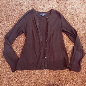 Basic editions black button down cardigan